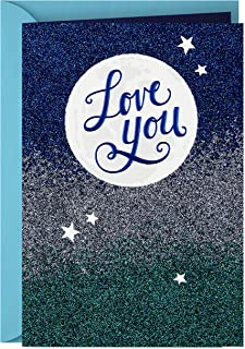 Hallmark Love Card, Love You to The Moon (Anniversary Card, Birthday Card, Sweetest Day Card)