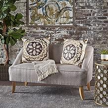 Christopher Knight Home 302027 Jasper Mid Century Modern Fabric Loveseat (Beige),