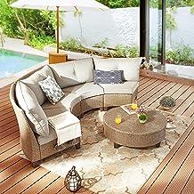 Amazon Com Curved Outdoor Sofa