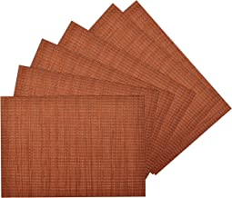 rust colored placemats