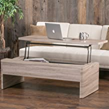 Christopher Knight Home Glenn Lift top Functional Coffee Table, Light Brown