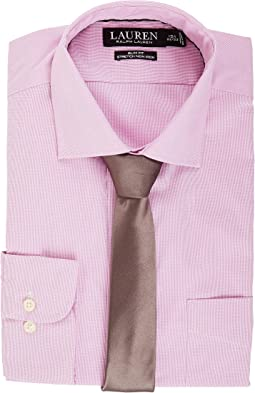 LAUREN Ralph Lauren Non Iron Poplin Stretch Slim Fit Spread Collar Derss Shirt