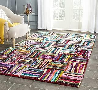 Safavieh Nantucket Collection NAN318A Handmade Abstract Multicolored Cotton Area Rug (3' x 5')