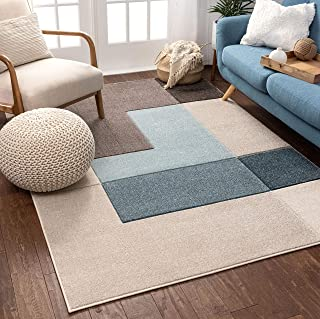 """Well Woven Connie Multi Modern Geometric Boxes Pattern Area Rug 5x7 (5`3"""" x 7`3"""")"""