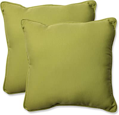 Pillow Perfect Outdoor/Indoor Fresco Pear Chair Cushion,Green,18.5""
