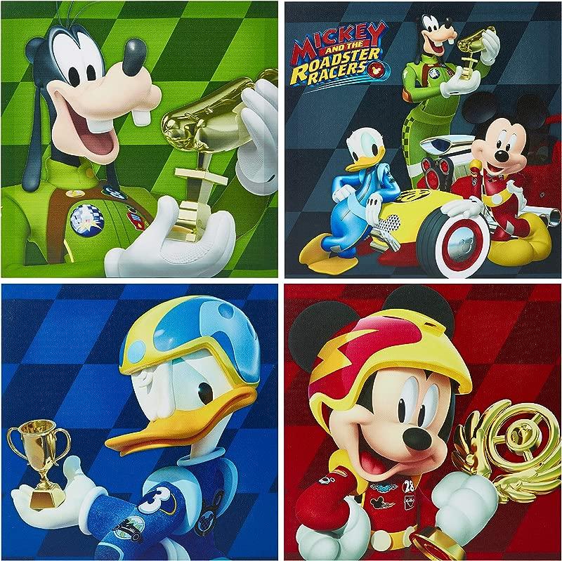 Disney NK320642 Mickey Mouse Wall Art 4 Piece Multicolor