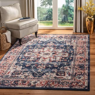 Safavieh CHL411L-8 Charleston Collection CHL411L Navy and Red (8' x 10') Area Rug,