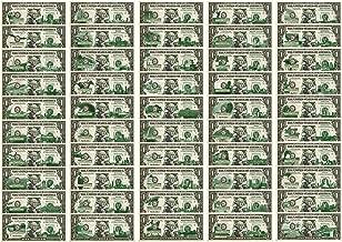 Set of 50 STATE $1 BillGenuine Legal Tender U.S. One-Dollar CurrencyGreen