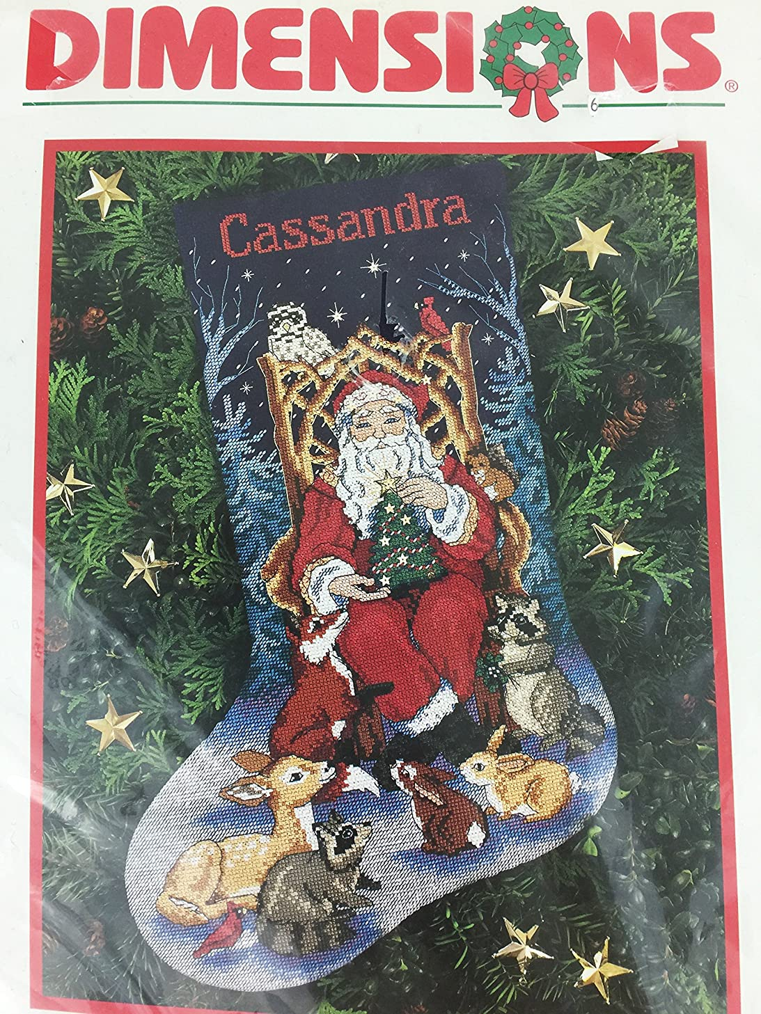 Dimensions Santa's Finest Stocking Counted Cross Stitch Kit