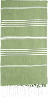 PestemalTurkish Bath Towels 37x70%100 Cotton by Cacala Olive Green - PES-CEP-OliveGreen