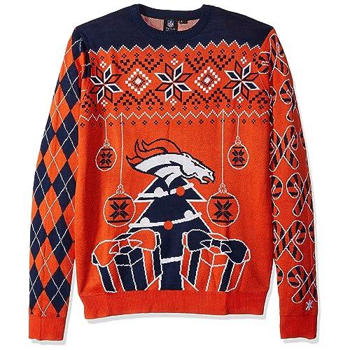 separation shoes 98de6 f01fd Denver Broncos Ugly Christmas Sweaters: Amazon.com