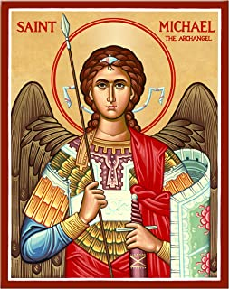 Saint Michael The Archangel (Military Style) Mounted Plaque Icon Reproduction 11