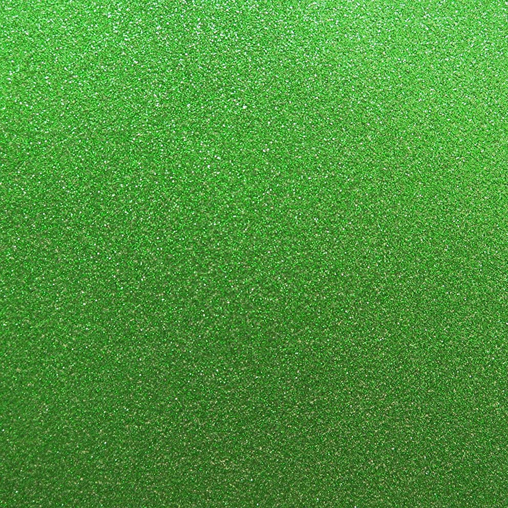 Best Creation 12-Inch by 12-Inch Glitter Cardstock, Green, Pack of 15