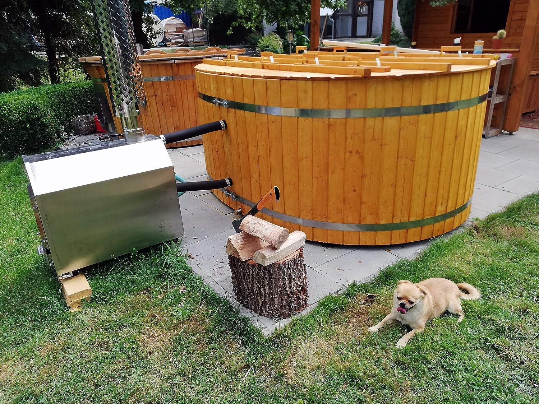 Stove For Water Heating Swimming Pool Bath Barrel Tub Heater 28 Kw With Wood Amazon De Garten