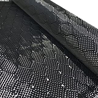 12 in x 5 FT - WASP - Carbon Fiber Fabric - Wasp Weave-3K - 220g-Black