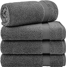 Hotel & Spa Quality 100% Turkish Genuine Cotton, Absorbent & Soft Decorative Luxury 4-Piece Bath Towel Set by United Home ...