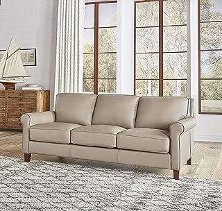 Hydeline Laguna 100% Leather Sofa Set (Sofa, Taupe)