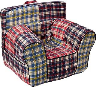 CUB CHAIRS 超大码*蓝马德拉斯椅套泡沫儿童椅