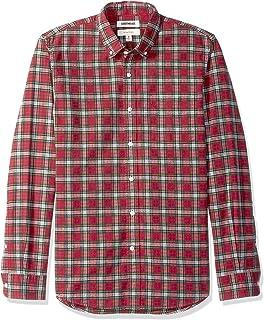 Goodthreads Camisa Oxford de Manga Larga Ajustada a Cuadros Camisa de Botones para Hombre