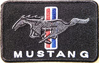 FORD MUSTANG Logo Sign Car Racing Patch Iron on Applique Embroidered T shirt Jacket BY SURAPAN