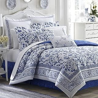 Laura Ashley Charlotte Comforter Set, King, Blue