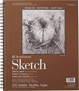 """Strathmore 455-4 400 Series Sketch Pad, 11""""x14"""" Wire Bound, 100 Sheets"""