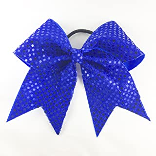 Arrow and Bowss Royal Blue Cheerleading Bow - Competition Grade Hair Bow 3 Inch Ribbon