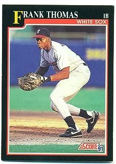 Lot of 5 1991 Score Frank Thomas HOF #840 - Chicago White Sox - Baseball Card