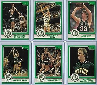 1984 Star Company Basketball Larry Bird Partial Set Cards # 1-9