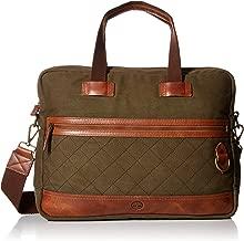 Timberland Men's Nantasket Briefcase Messenger Crossbody Bag, Olive Night, One Size
