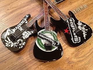 Set of Three (3) Jeff Hanneman Miniature Guitars - Raiders Heineken SEIT Tribute