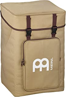 Meinl Percussion Cajon Box Drum Bag - Professional Standard Size With Backpack Straps, External Pocket, Beige - Heavy Duty Padded Nylon and Carrying Grip (MCJB-BP)