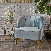 Christopher Knight Home Scarlett Modern Seafoam Blue Velvet Club Chair