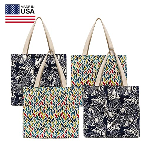 bb7a7740c190 Planet E Reusable Canvas Tote Bags – Made In USA Fashionable Perfect for  Shopping or Groceries
