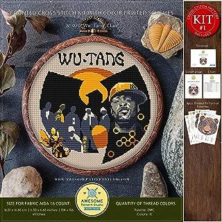 Wu Tang Clan #K070 Embroidery Kit | Cross Stitch Kits | Cross Stitch World | Music Needlepoint | Counted Cross Stitch | Stitch Patterns