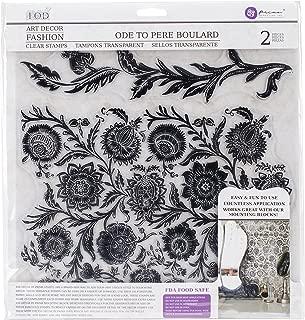 Prima Marketing Iron Orchid Designs Decor Clear Stamps -OdeToPereBoulard, 12