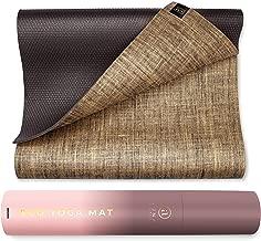 Natural Jute Yoga Mat Eco-Friendly Non-Toxic Reversible Organic Jute - Carry Stretching Strap - Extra Long 72 Inch - 5mm Thick - All Types Yoga - Vegan Mat Yoga