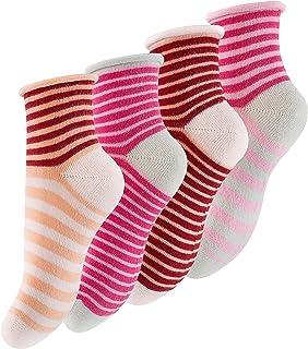 Cotton Prime, 8 pares de calcetines para niña con rayas multicolor