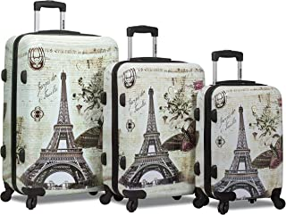 hard shell luggage with designs