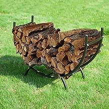 1908 Earth Worth | Firewood Curved Log Rack | 3 FT | Black