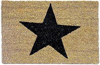 Relaxdays – Felpudo con una Estrella Impresa para la Entrada de su hogar Hecho de Fibras de Coco y PVC con Medidas 40 x 60...