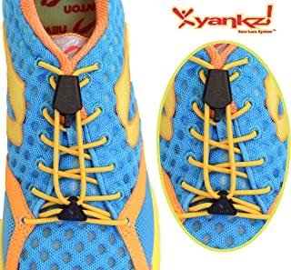 (Round Elastic Shoe Laces for Sports & Casual Shoes) w/ Black Casings