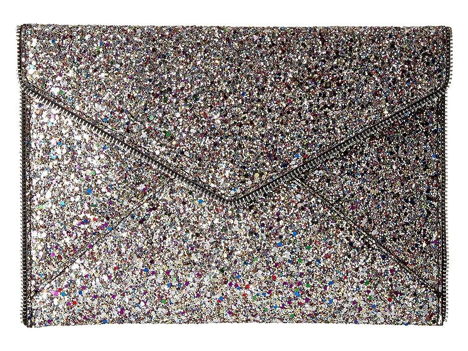 fedfc3d28bf2 Rebecca Minkoff Glitter Leo Clutch (Silver Multi) Clutch Handbags ...