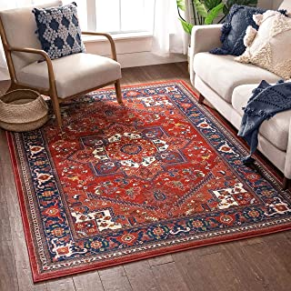 "Well Woven Jada Red Traditional Medallion Area Rug 5x7 (5'3"" x 7'3"")"
