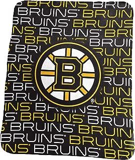 Logo Brands NHL Boston Bruins Classic Fleece Blanket, Black, 50