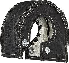 Spec-D Tuning TB-T4BLK T4 Black Turbo Heat Blanket Turbocharger Shield Cover W/White Stitching