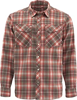 Men's Gallatin Flannel Long Sleeve Shirt, Water Resistant Fishing Shirt with UPF50 UV Sun Protection, Quality Fishing Apparel for Men