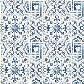 Brewster 3117-12332 Sonoma Navy Spanish Tile Wallpaper