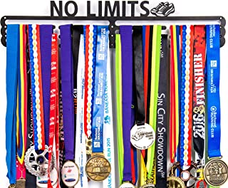 Urban Active Sports Medal Holder + No Limits + Medal Display for 60+ Medals
