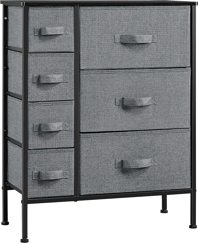 YAHEETECH Indianapolis Mall 7 Drawer Dresser Storage Tower Organizer Popular Unit Fabric